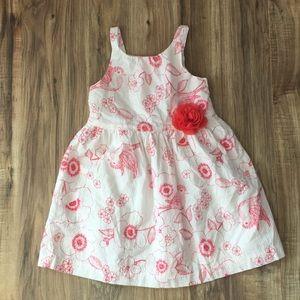 Gymboree White Sun Dress w Red Floral Pattern 🧸